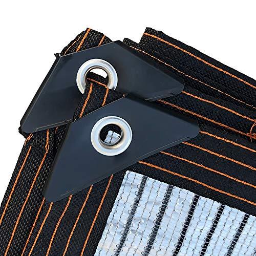WXQIANG 75% aluminio protector solar con ojales de bordes, toldo de jardín con flores para techo, balcón, protección solar, aislamiento térmico (tamaño: 2 x 3 m)