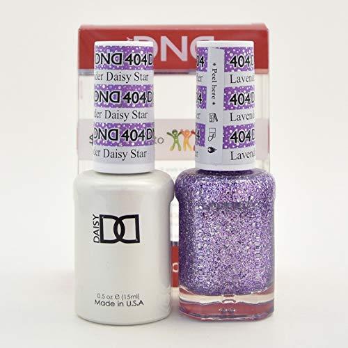 DNDDuo Gel (Gel & Matching Polish) Glitter Set 404 - Lavender Daisy Star by DND Gel