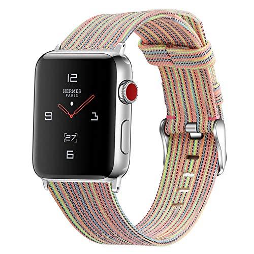 Compatible con Apple Watch 40 mm 38 mm, Correas Deportivas Trenzadas Tejidas para iwatch 6 / SE / 5/4/3/2/1 (muñeca de 140 mm a 200 mm),A,38mm/40mm
