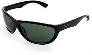 RB4188 Sunglasses Black/Poly Green, One Size