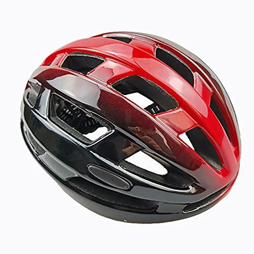 Casco Bicicleta, Casco Bicicleta Adulto,Casco Bicicleta con Pueblo interior desmontable, Casco Bicicleta con luz Casco de Bicicleta Hombre Mujere, Tamaño ajustable 58-62cm
