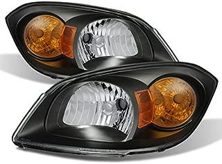 For Black 07-10 Pontiac G5 05-10 Chevy Cobalt 05-06 Pontiac Pursuit Headlights Front Lamps Replacement