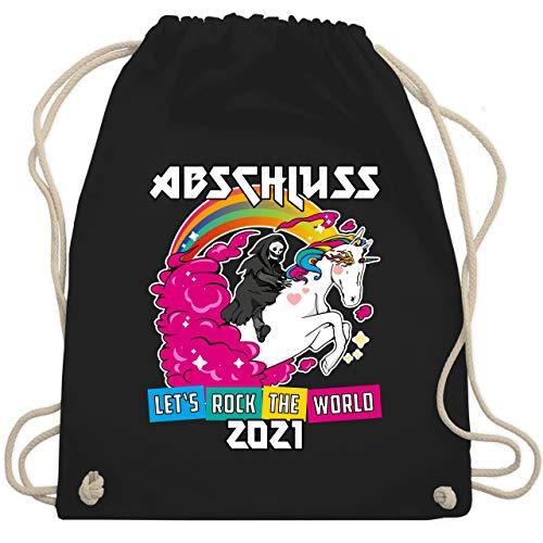 Shirtracer Abi & Abschluss - Lets Rock Abschluss 2021 - Unisize - Schwarz - abi 2020 turnbeutel - WM110 - Turnbeutel und Stoffbeutel aus Baumwolle