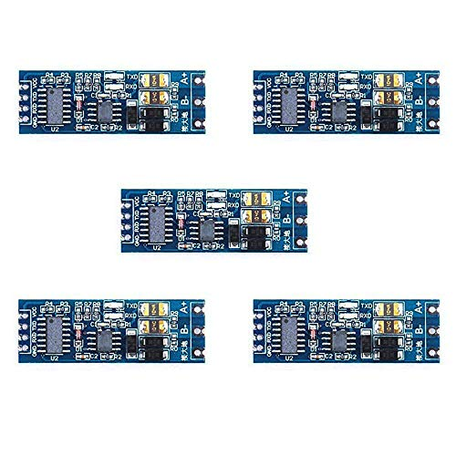 Zkee Shop 5PCS 3.3V 5V TTL to RS485 Adapter 485 to Serial Port UART Level Converter Module