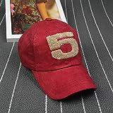 wopiaol Sombreros de béisbol de Gamuza de Primavera y Verano para Hombres y Mujeres Sombreros de 5 Palabras Gorras de Marea Deportes al Aire Libre Pareja Sombreros para el Sol