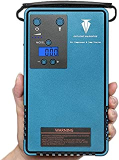 Jump Starter with air Compressor & Mobile Power Support Automatic Cordless Tire Inflator Portable Air Compressor, Easy to Read Digital Pressure Gauge, 10200MA Capacity 500A Peak Current car Battery