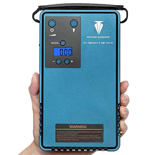 Save %53 Now! Jump starter with air compressor &mobile power support LCD screen tyre Pressure gauger...