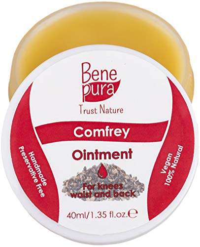 Natürliche Beinwellsalbe 40 ml, kaltgepresstes Öl-Extrakt, 100% natürlich - Gegen Gelenkschmerzen - Reines Naturkonzentrat - Handgefertigt in der EU