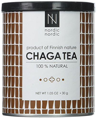 NordicNordic Chaga Mushroom Tea, Powerful Antioxidant, Natural, Vegan, Paleo, 20 Bleach-Free Tea Bags (Unflavored)