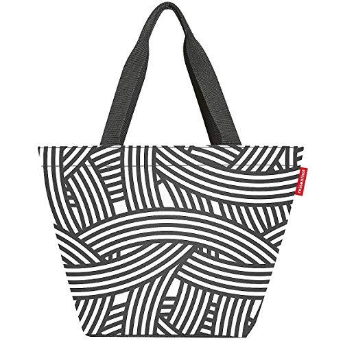 reisenthel Shopper M Zebra, M, schwarz weiß