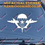 3S MOTORLINE Russian Airborne Troops VDV Car Decal Sticker Russia WW2 Flag of Airborne Forces (White, 6'' (15.2cm))
