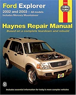 Ford Explorer 2002 thru 2003 (Haynes Repair Manual)