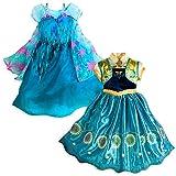 Disney Store Frozen Fever 2 en 1 Elsa & Anna Disfraz Niñas 9/10