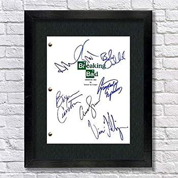 Breaking Bad TV Cast Autographed Signed Reprint 8.5x11 Script UNFRAMED Bryan Cranston Walter White Aaron Paul Jesse Pinkman Bob Odenkirk Anna Gunn Giancarlo Esposito