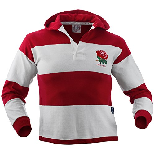 England Rugby Hooded Jersey (Small) White