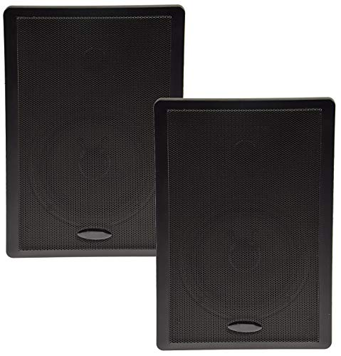 Flatpanel-Lautsprecher 2-Wege 40Watt 2 Stück Wand-Lautsprecher 37mm flach Schwarz