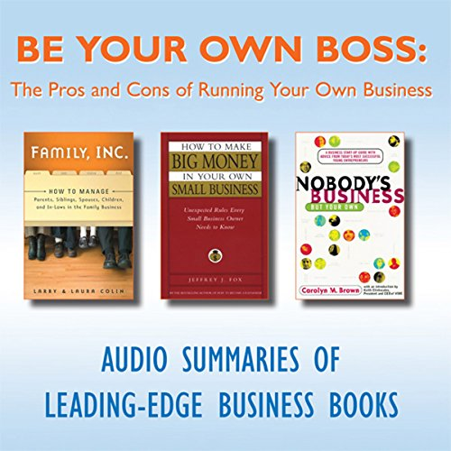 Be Your Own Boss: The Pros and Cons of Running Your Own Business  Audiolibri