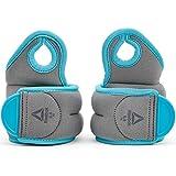 Reebok Damen Wrist Weights Gewichtsmanschette Handgelenk, grau/Blau, 0,5 kg