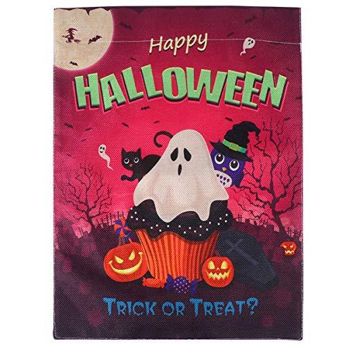 Cabilock 1Pc Halloween Gartenflagge Mehrzweckgartenflagge Dekor Ghost Festival Kürbisfahne Dekorative Hausflagge Kreative Druck Ammer für Hof Veranda Gartenhaus