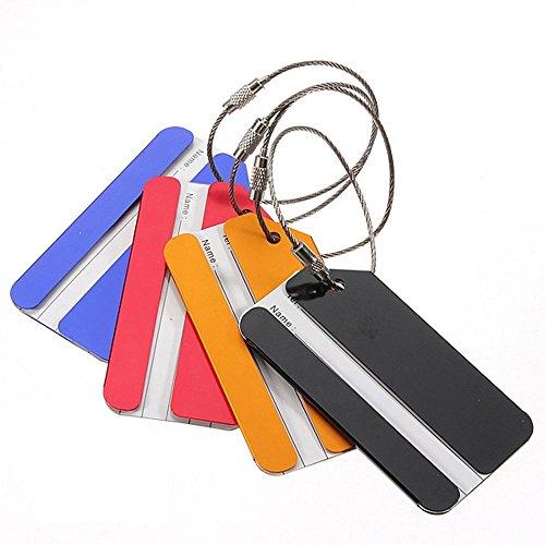 TOOGOO(R)) 5 Piezas de Metal de Vacaciones Viajes de Equipaje Equipaje Maleta ID Tag Hebilla Direccion Titular Label - Color al Azar