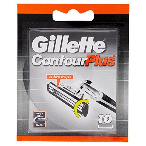 GILLETTE CONTOUR PLUS Lame Comfort con Striscia Lubrificante, confezione da 10