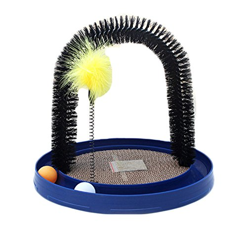 Arch Cat Groom Self Grooming Cat Toy Cat Self Groomer, Massager and Cat Scratcher with Scratch Pad...