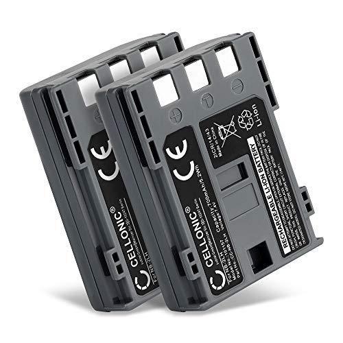 CELLONIC® 2x Batería de Repuesto NB-2L NB-2LH BP-2L5 per Canon EOS 400D EOS 350D EOS Digital Regel XTi G7 G9 S50 HG10 Legria HF R16 R106 MD235 VIXIA HV30 ZR800, 700mAh Accu Sustitución Camara, Battery