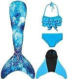 SPEEDEVE Mädchen Meerjungfrauenschwanz Zum Schwimmen mit Bikini Set und Monoflosse