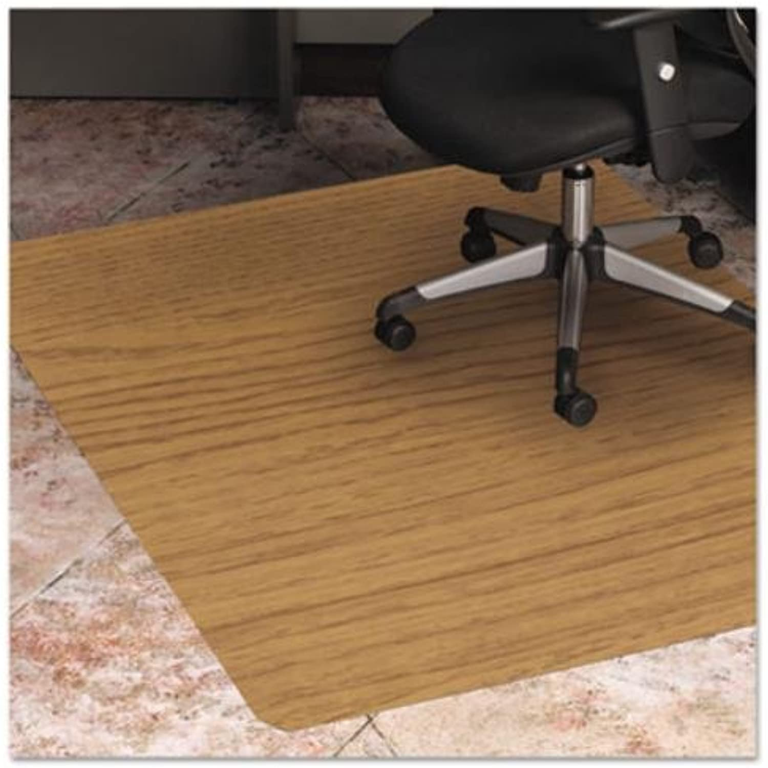ES Robbins Wood Veneer Style Rectangle Chair Mat for Hard Floors, 36 by 48-Inch, Natural