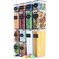 14 Piece Chef's Path Airtight Food Storage Container Set for Cereal, Flour & Sugar