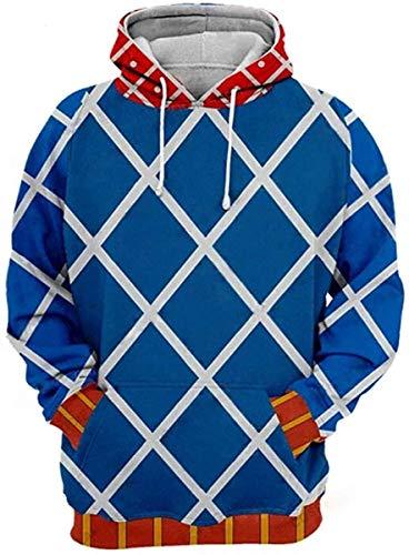 POYUT JoJo's Bizarre Adventure Golden Wind Hoodie Long Sleeve Autumn Outerwear Pullover Sweatshirt Anime Cosplay Costume Unisex, Small