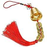 Achort Campana Cinese Feng Shui per ricchezza e Sicurezza, Ciondolo con Monete per Success...