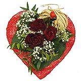 VERSANDKOSTENFREI Blumenstrauß kleines Herz + kostenloser Geschenkkarte Blumenversand