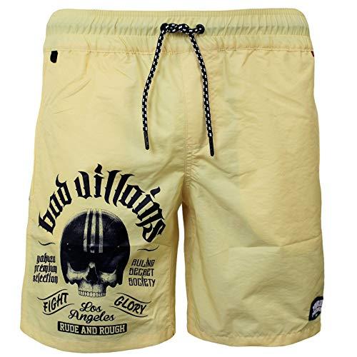 Yakuza Premium Herren Badehose 2866 hellgelb Shorts 4XL