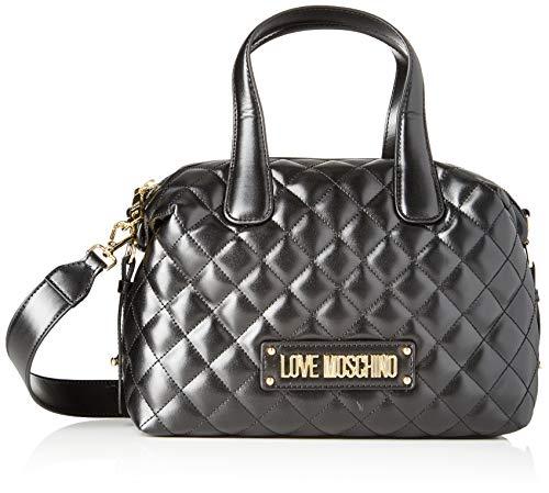 Love Moschino Unisex-Erwachsene Jc4005pp18la0000 Bowling-Tasche, Schwarz (Nero), 19x12x28 centimeters