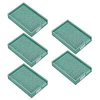 帯電防止ネジトレイ、プラスチックネジトレイホルダー1.0mm-1.5mm(緑、5PCS)