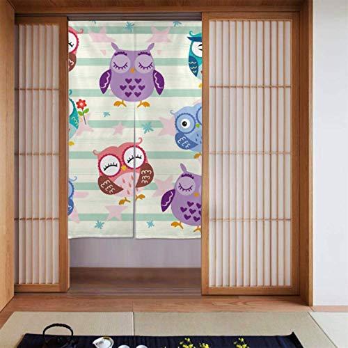 Schlafzimmer Vorhang Interessante süße Kind Tier Eule Verdunkelungsvorhänge Schlafzimmer Küchenvorhang Tür Lange Art Für Zuhause Küchentür Dekoration 34 X 56 Zoll (86x143cm)