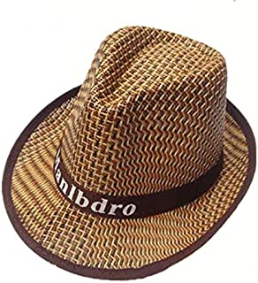 LONGren Western Cowboy Straw Hat, Summer Outdoor Climbing Fishing Sunscreen Fisherman Hat Big Eaves Breathable Beach Cold ...