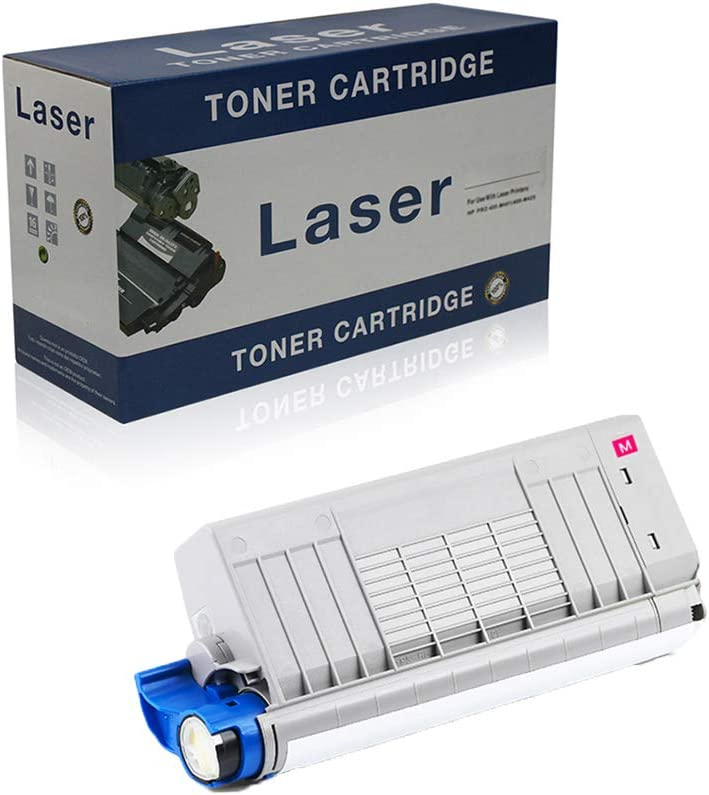 Compatible Toner Cartridges Replacement for OKI C721DN 46507616 46507615 46507614 46507613 for Use with OKI C712N C712DN Printer,Magenta