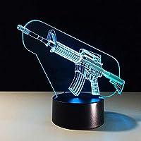 MQJ 漫画の機械銃の3 Dの夜の光のための女の子のギフト3Dの幻想的な光寝室のための幻想的なランプ、16色の変更led Moodの卓上卓上ランプ子供の贈り物