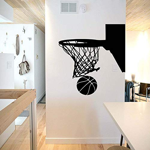 Calcomanía de pared de baloncesto hoop teen boy dormitorio gimnasio decoración de interiores puerta ventana vinilo pegatina deportes papel tapiz creativo