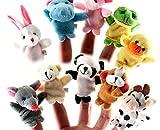 babyGreen Marionetas del Dedo,10pcs Diferente Dibujos Animados Animal Dedo Marionetas Suave Terciopelo Muñecas Accesorios Juguetes,Dedo Juguetes Conjunto, niños