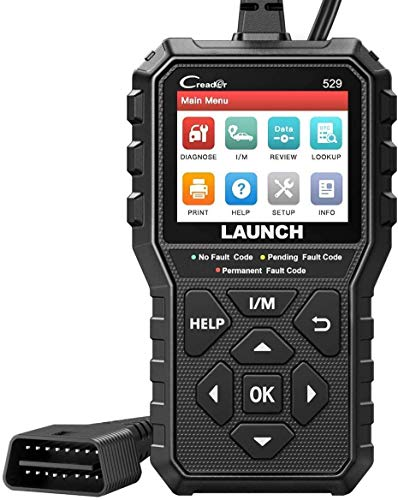 LAUNCH OBD2 Scanner CR529 Code Reader with Enhanced Full OBD2 Function, Check Engine code reader CAN Scan Tool, One-Click I/M Readiness Car Diagnostic Tool,Lifetime Free Update, Advanced Ver. Of CR319