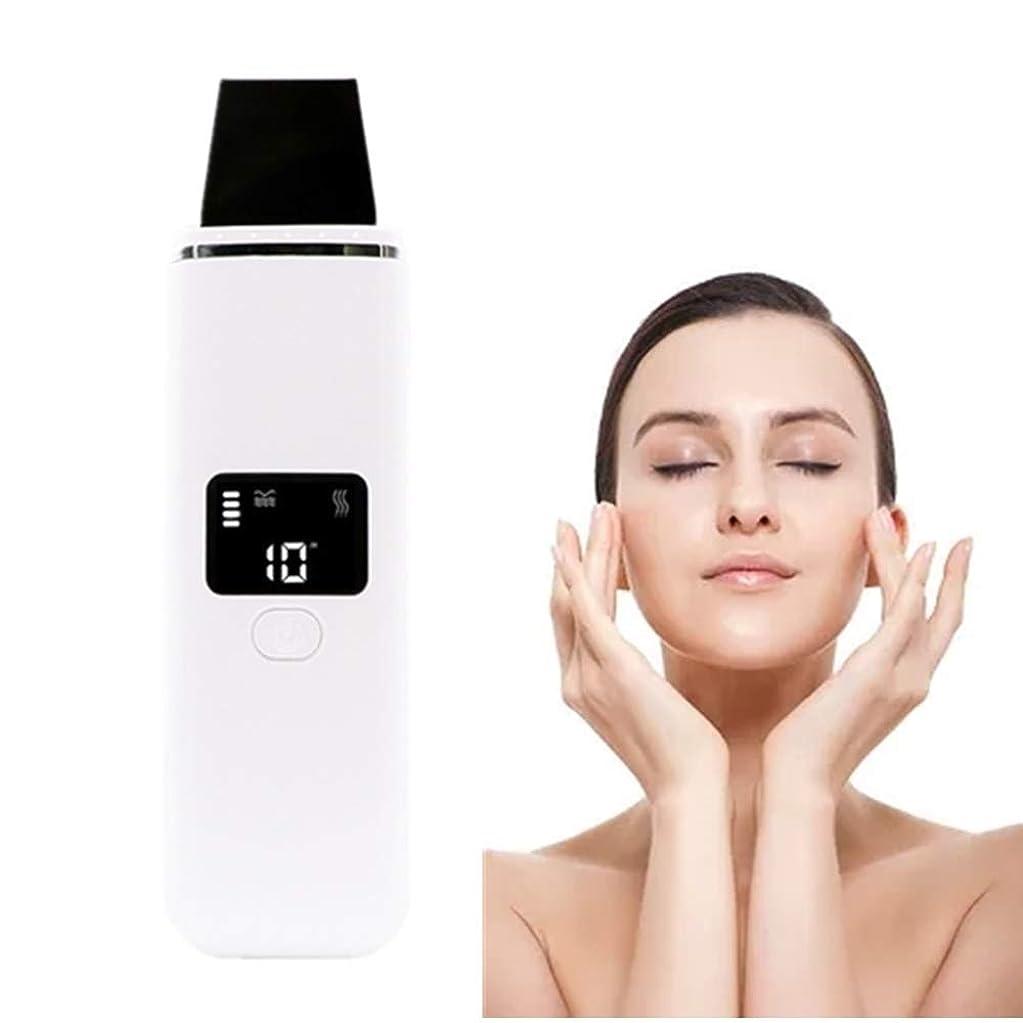 として形式スーツピーリングリフティングEMSクレンジングピーリングスキンヘラジェントルケアピーリングしわ除去機と顔の皮膚のスクラバーブラックヘッドリムーバー毛穴の掃除機のUSB充電式デバイス