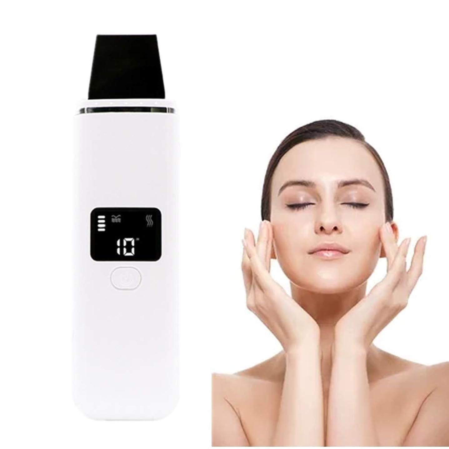 奨励します木製秘密のピーリングリフティングEMSクレンジングピーリングスキンヘラジェントルケアピーリングしわ除去機と顔の皮膚のスクラバーブラックヘッドリムーバー毛穴の掃除機のUSB充電式デバイス