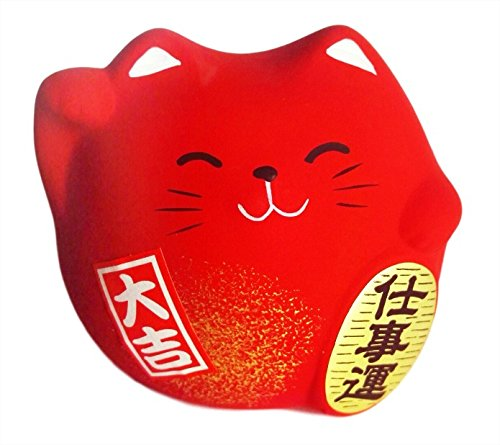 Chat Japonais Maneki Neko 100% made in Japan /Différents Col