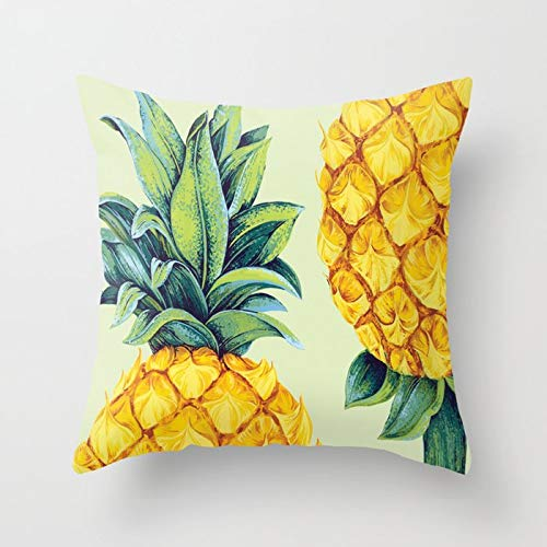 PPMP Sommar gult kuddfodral ananas löv soffa kram örngott sovrum heminredning kram örngott A5 45 x 45 cm 1 st