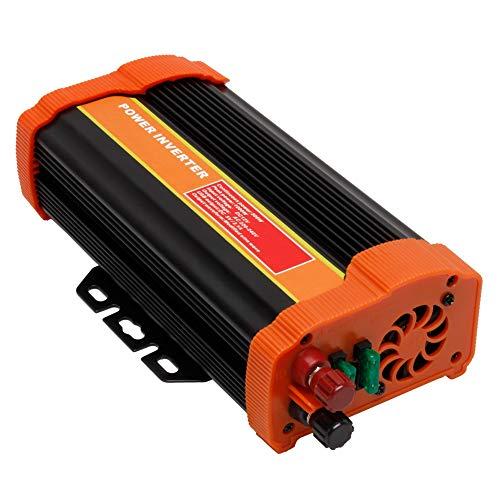 Inversor de corriente para coche, 1200 W, 12 V, 230 V, con enchufes, 2 USB, cargador de coche con onda sinusoidal pura, cargador de coche DC AC