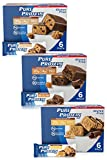 Pure Protein Bars, High Protein, Nutritious Snacks to Support Energy, Low Sugar, Gluten Free, Guilt Free Variety Pack(Cookie Dough/Choc Caramel/Peanut Butter Cup), 1.76 oz, Pack of 18