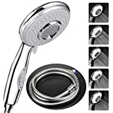 Shower Head with Hose(2m) Universal, High Pressure Self Cleaning Never Clog with 5